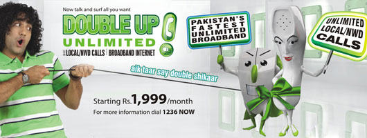 PTCL Bundles Unlimited On-net Calls and Broadband – Double Up Unlimited Package