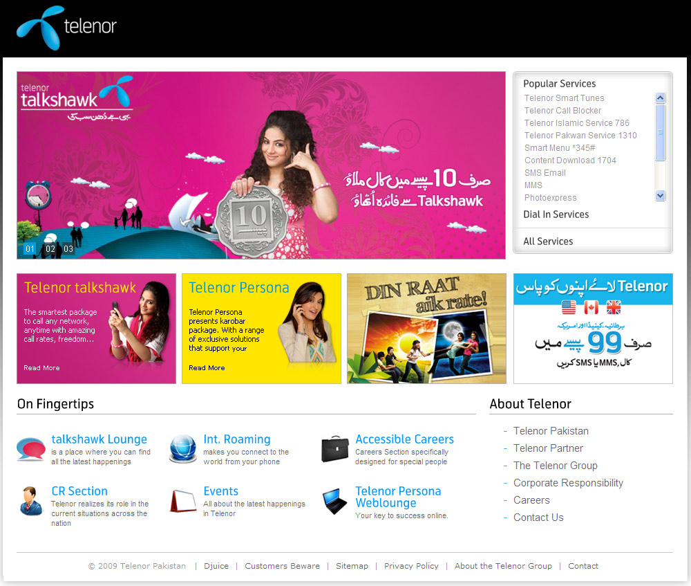 Telenor New Website