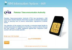 PTA SIM Information System