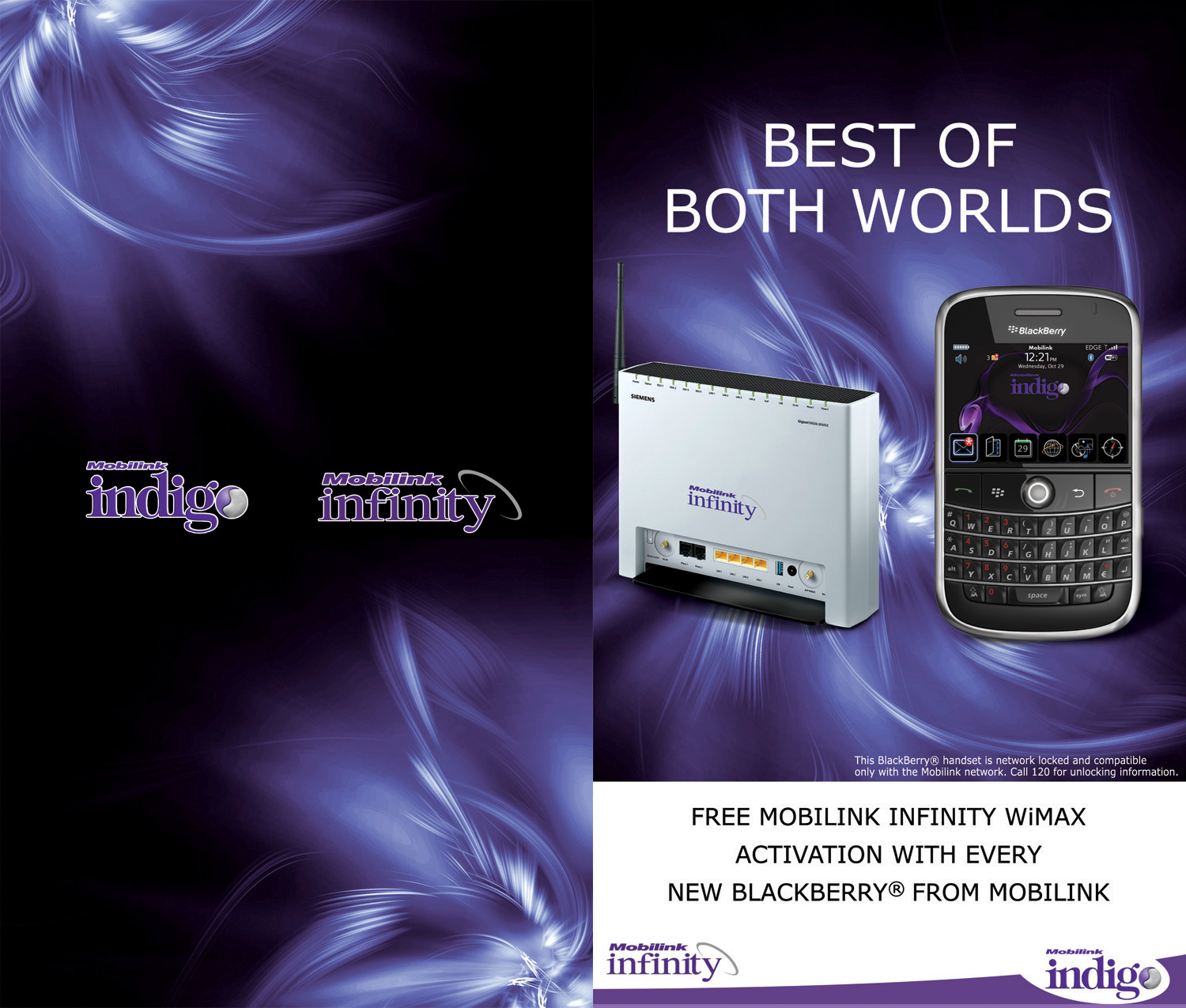 Mobilink Infinity and Blackberry
