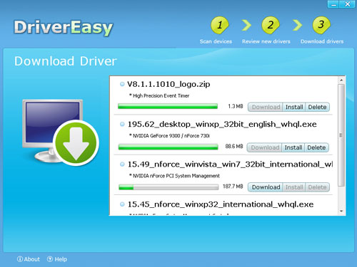 DriverEasy Download drivers