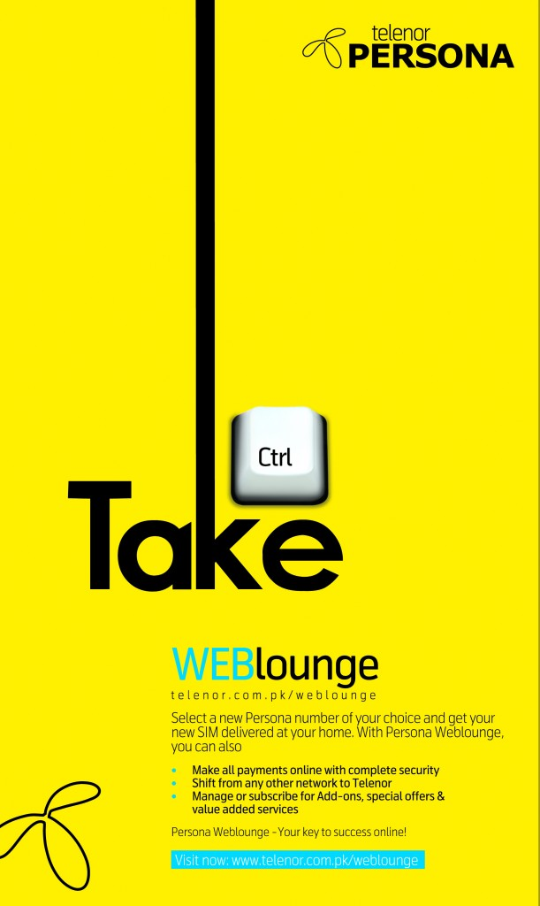 Telenor Persona Weblounge 'Free Golden Number Offer'
