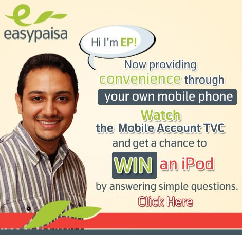 Watch easypaisa Mobile Account TVC & Win an iPOD – Another Stupid Competition