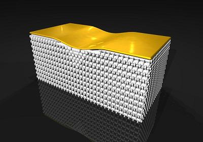 Hiding Gold with 3D Invisibility Cloak