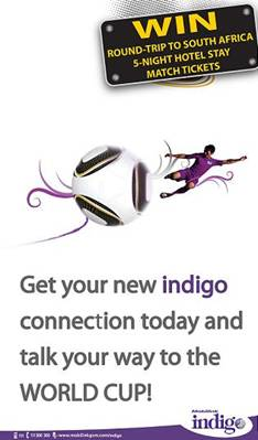 With Mobilink Indigo Get a Chance to Enjoy Football World Cup in South Africa
