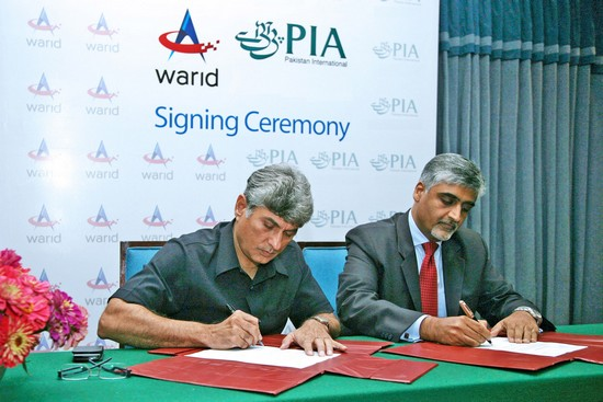 Warid PIA Signing Ceremony Warid Telecom Signs MoU with PIA
