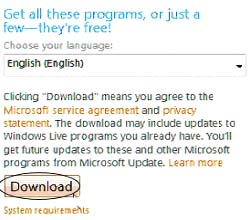 Windows Live Download
