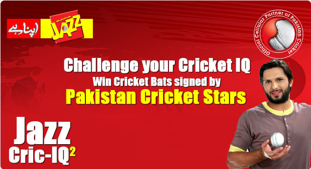 Mobilink Cricket Knowledge Contest: Jazz Cric-IQ2