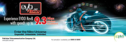 PTCL EVO 3G Nitro- Unparallel – Unbeatable – Unlimited!