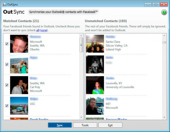 Outlook Contacts