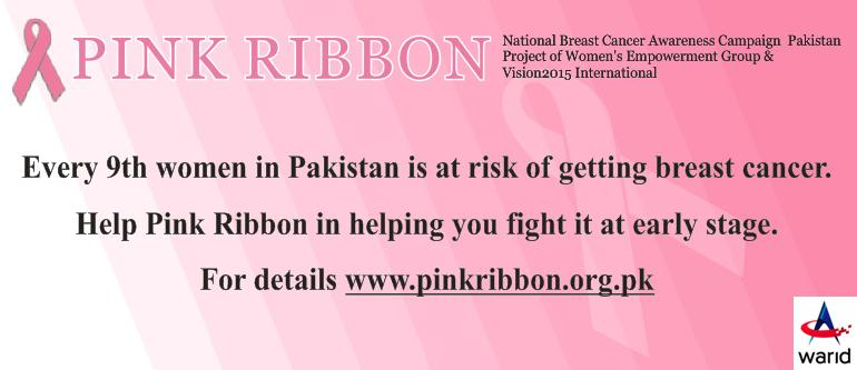 Warid Supports Pink Ribbon to Spread Breast Cancer Awareness
