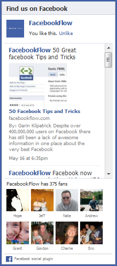 facebook like embed
