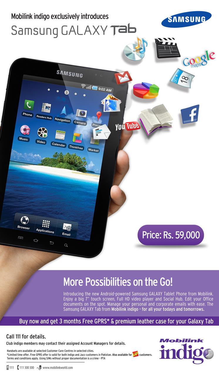 Mobilink Samsung Galaxy Tab