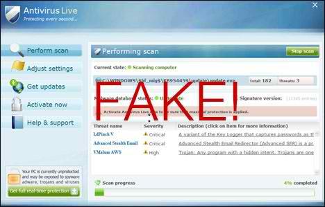 Fake Antivirus Live