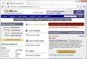 CallCentric Homepage 300x205