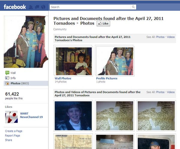 Facebook Tornadoes Victims