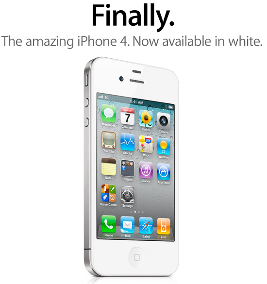 White iPhone 4 Finally