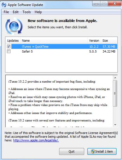 iTunes 10.2.21