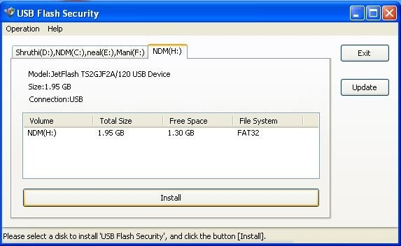 install usb security tool