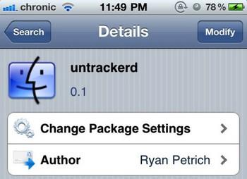 untrackered