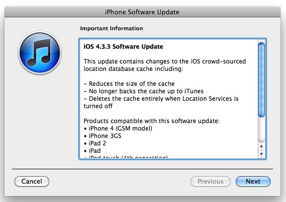 iOS 4.3.3 Update