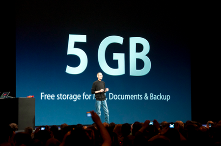 Use iClouds 5 GB Space