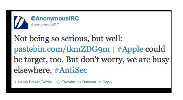Anonymous IRC