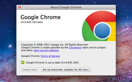 google chrome 14 mac osx lion support