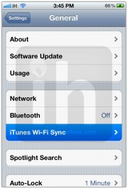 wifi sync itunes 21