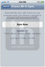 wifi sync itunes 3
