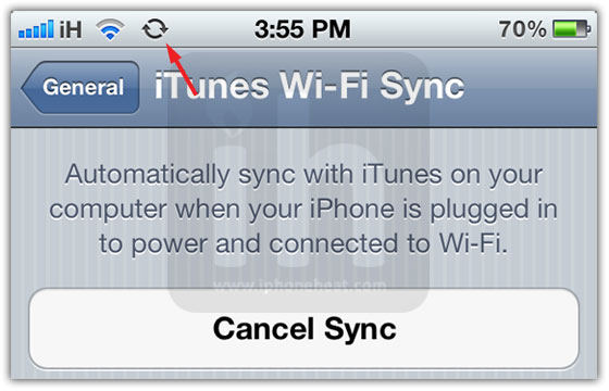 how to connect itunes to iphone with wifi