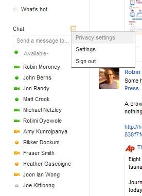 Google Chat Setting