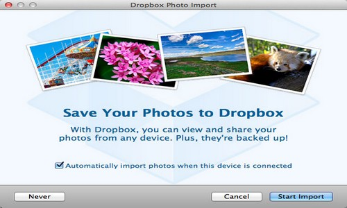 Dropbox Photo Splash