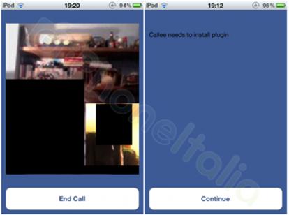 Video call Facebook Messenger iPod