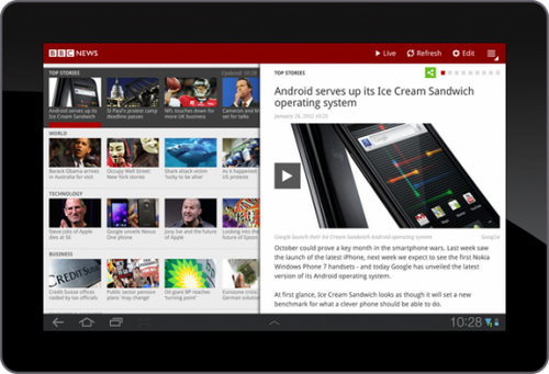 BBCNews Android Tablet App