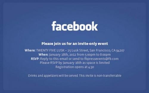 Facebook Invitation