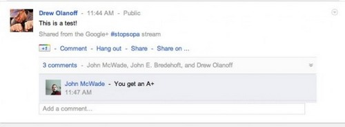 Google+ Test