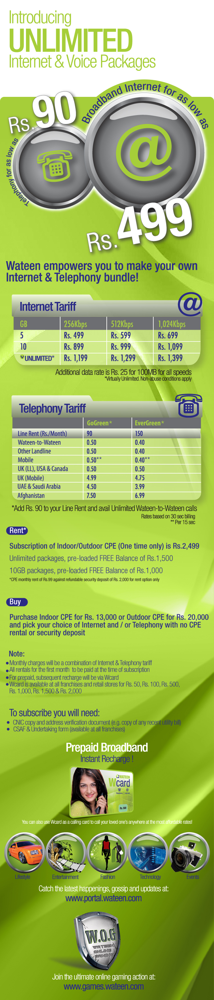 Wateen Unlimited WiMax Broadband Package Introduced!