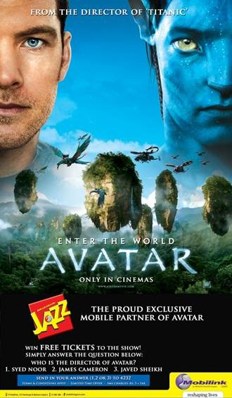 Mobilink Jazz Providing Free Passes for Blockbuster 'Avatar'
