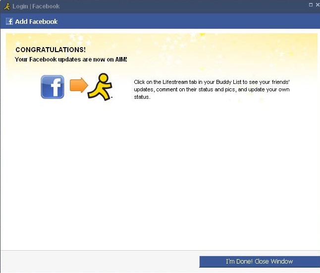 Facebook Chat Integrated into AIM