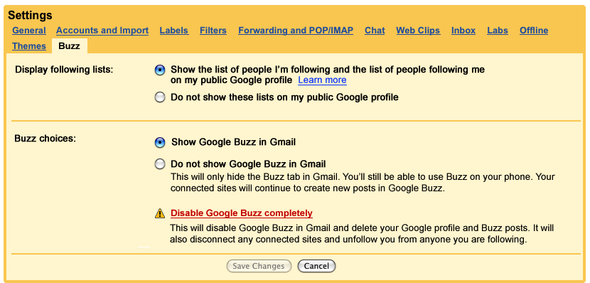 Google Buzz Modifies Privacy Even More