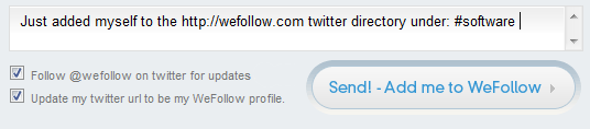 Wefollow Users! Check Your Twitter Profile