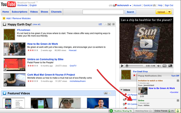 YouTube Removes RealTime Toolbar Experiment
