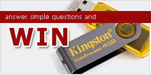 Quiz: Internet & Computer – Win 4GB Kingston DataTraveler