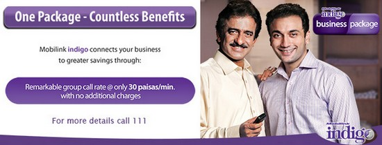 "Mobilink Indigo Business Package ""iBusiness"" for Postpay Customers"