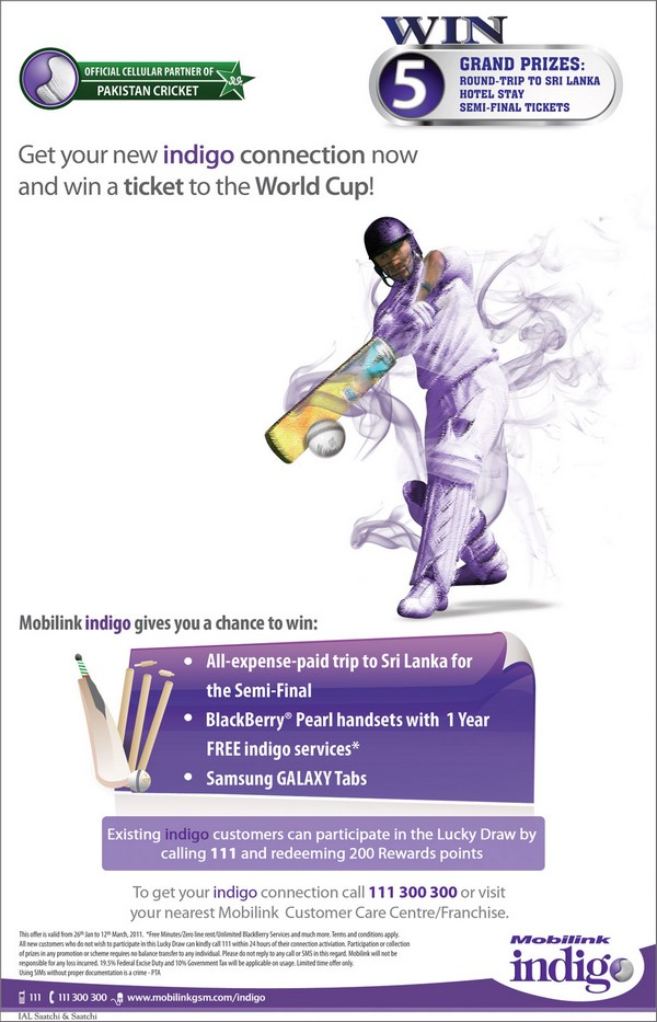 Your Indigo Connection Can Be Your Ticket to the Cricket World Cup!