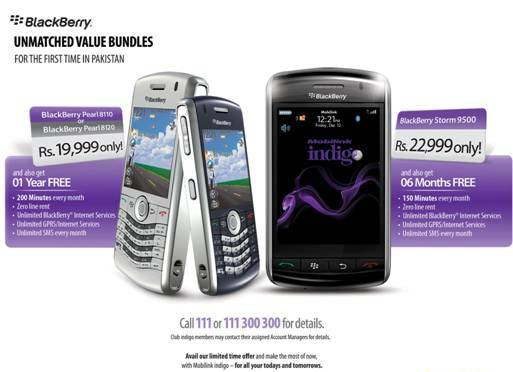 Mobilink Indigo Brings Unmatched BlackBerry Bundle Offers!